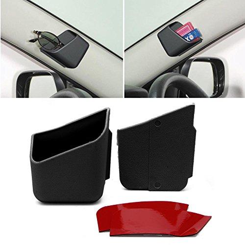 NUMBERNINE,2X Universal Car Auto Accessories Glasses Organizer Storage Box Holder Black,Car Emergency - Snare Sunglasses