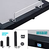 HOFISH 2019 Upgraded Solid Wood Slat Adjustable Bed Frame - One-Step Assembly Customizable Positions Queen Adjustable Bed Base with Backlit Wireless Remote, USB Port Queen
