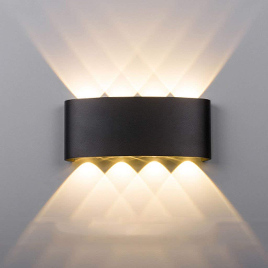 Wand Leuchte IED modernen minimalistischen Outdoor Schlafzimmer Bett wasserdicht Mode Kunst Wohnzimmer Schwarz Lampen (Farbe  C)