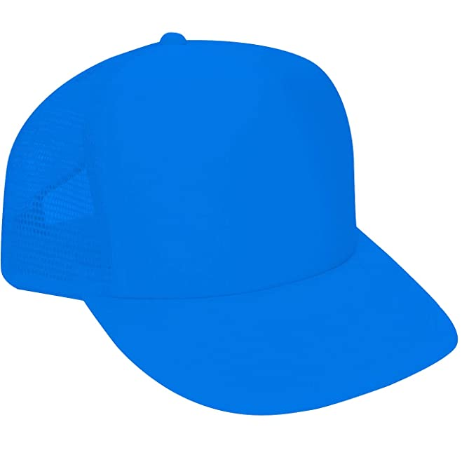 46f8f66fe9f7f Bright neon truckers mesh snap back hat in neon blue - One Size at Amazon  Men s Clothing store