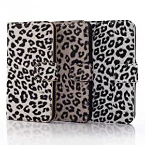 Leopard PU Leather Stand Case For Samsung Galaxy S5 I9600 --- Color:Brown