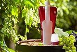 Premium Foldable Wine Bottle Portable, Reusable, Refillable, Leak Proof, Flexible Travel Wine Bottle 750ml Shatterproof Comes with Life Time Guarantee