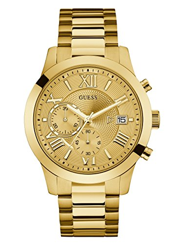 GUESS Men's Stainless Steel Multi-Function Casual Bracelet Watch, Color: Gold-Tone (Model: U0668G4) - Guess Gc Men Watch