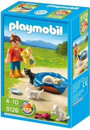 PLAYMOBIL 5126 - Mädchen mit Katzenfamilie