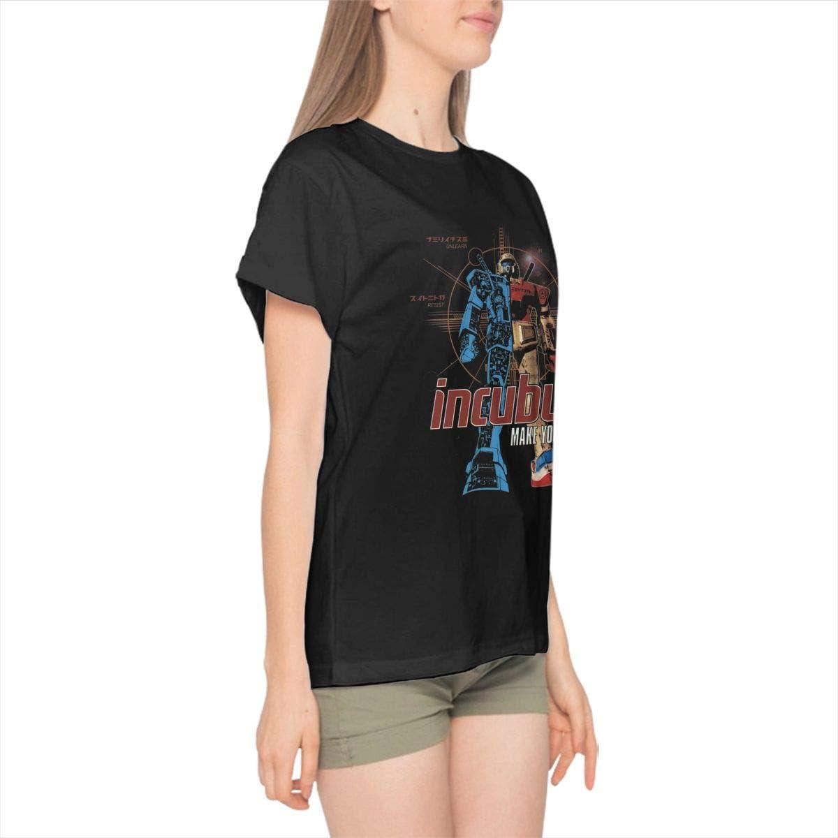 Incubus-Make Yourself Women Basic Cotton Short Sleeve Singer Music Band Shirt Black
