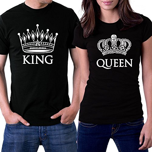 PicOnTshirt Queen Couple T shirts Crowns product image