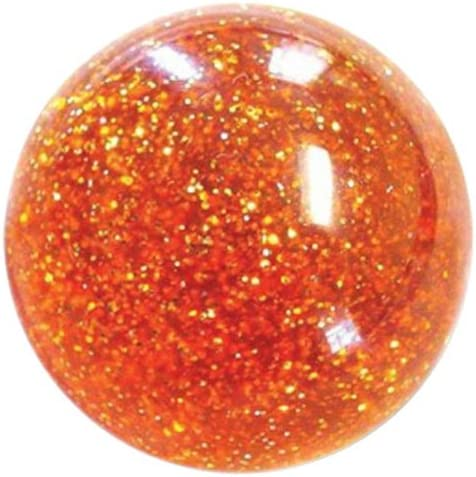 American Shifter 53765 Old Skool Orange Sparkle Shift Knob and Metal Flakes