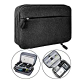 Electronic Organizer Travel Packing Bag - Luxsure Double Layer Travel Gadget Carry Bag for Accessories,Ipad/Ipad Pro/Mini, USB Cables, Plugs, Earphone, Power Bank, Flash Hard Drive (Medium 8.2'')