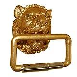 Hickory Manor House Lion Head Toilet Paper Holder, Gold Leaf