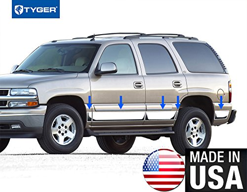 Made In USA! Works With 00-06 Chevy Tahoe 4 Door Without Fender Flare Rocker Panel Trim Body Side Moulding 6
