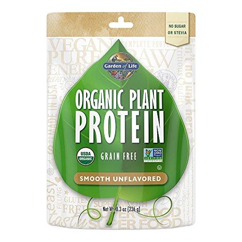 Garden of Life Organic Protein Powder - Vegan Plant-Based Protein Powder, Sugar Free, Unflavored, Unflavored, 8.3oz (236g) Powder