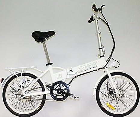 """Bicicleta Eléctrica Plegable de Color Blanco con Motor de 250W, Velocidad Máxima 25 Km/H y Ruedas 20""""""""X1,75: Amazon.es: Deportes y aire libre"""
