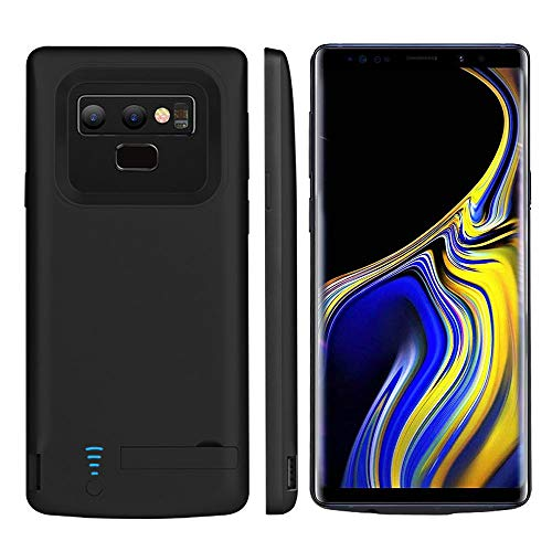 RUNSY Samsung Galaxy Note 9 Battery Case, 5000mAh Rechargeable Extended Battery Charging Case, External Battery Charger Case, Backup Power Bank Case with Kickstand and S-Pen Hole (6.4 inch for Note ()