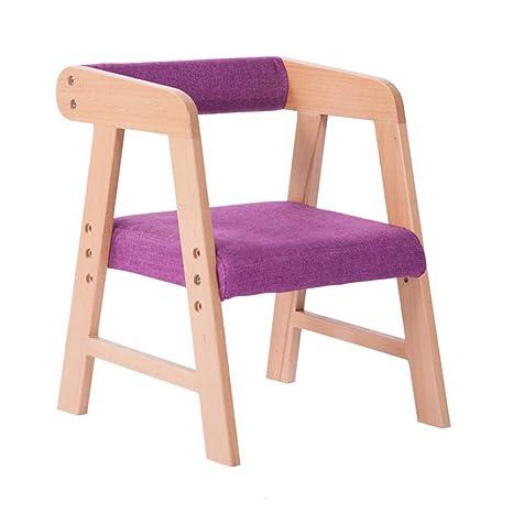 WYYY silla de Oficina Madera Maciza para Niños Silla De ...
