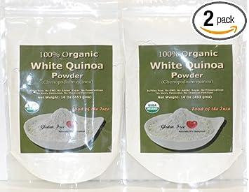 Indus Organics White Quinoa Seeds Powder, 1 Lb (X2 of Bags), Premium