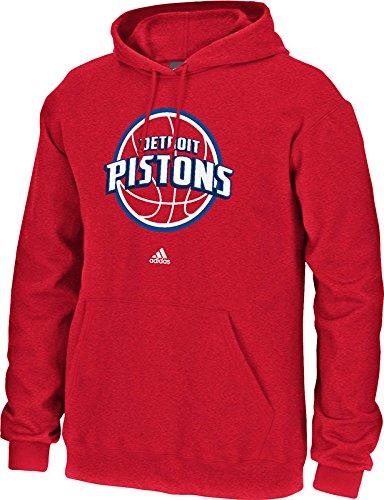 NBA Detroit Pistons Men's Full Primary Logo Fleece Hoodie, Large,