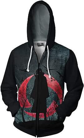 FLYCHEN Sudadera con capucha para hombre con insignia de anime japonés, diseño de anime japonés.