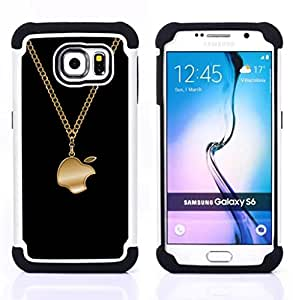 For Samsung Galaxy S6 G9200 - Funny Bling Apple Jewellery Dual Layer caso de Shell HUELGA Impacto pata de cabra con im????genes gr????ficas Steam - Funny Shop -