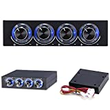 STW-6002 4 Channel Speed Fan Controller with Blue LED GDT Controller for computer's fans