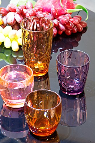300ml Colored Plastic Cups Tumblers Acrylic Water Drinking