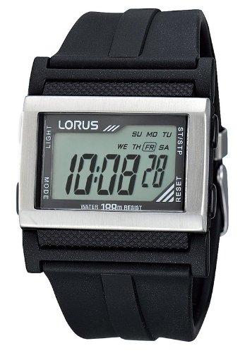 Lorus - Reloj de pulsera hombre, silicona, color negro: Amazon.es: Relojes