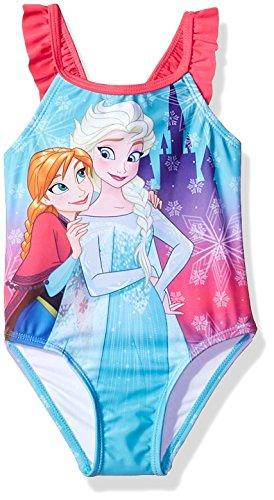 Disney Princess Baby Girls Elsa and Anna Swimsuit, Sky Blue, 18M (Swimsuit Disney One Piece)