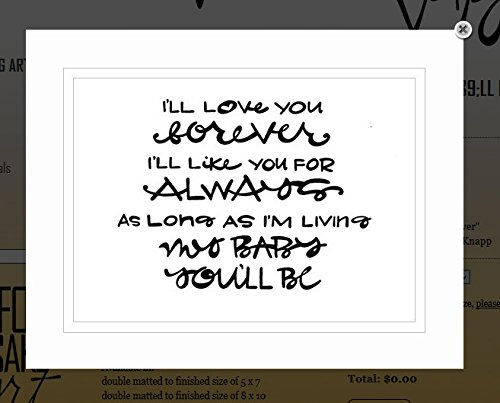 G Art: Original Saying/Quote U0026quot;Iu0027ll Love You