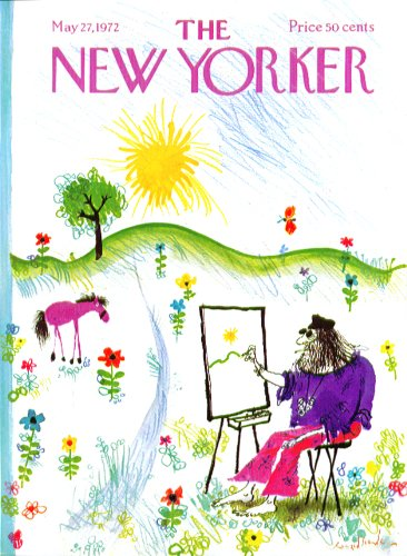 New Yorker cover Searle Hairy artist draws from naïve landscape 5/27 (1972 Landscapes)