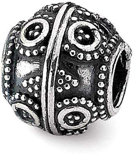 Sterling Silver Jewelry Themed Beads Solid 10.00 mm 10.91 mm Artisan Bead