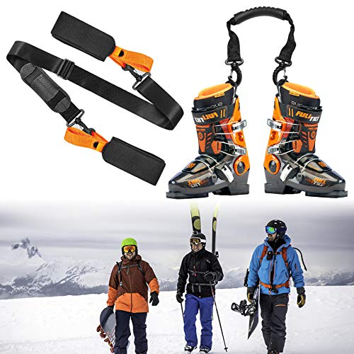 Adjustable Cushioned Shoulder Back Band for Family Men Women Kids Downhill Skiing Equipment Accessories Broadsheet Ski Strap and Ski Boot Strap