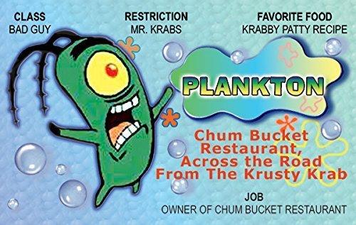 Amazon.com: Plankton Bob Esponja dibujos animados Diversión ...