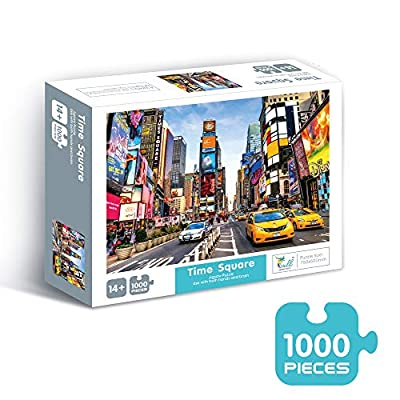 Puzzles For Adults Jigsaw Puzzles 1000 Pieces For Adults Kids– Time Square Jigsaw Puzzle Game Toys Gift: Toys & Games