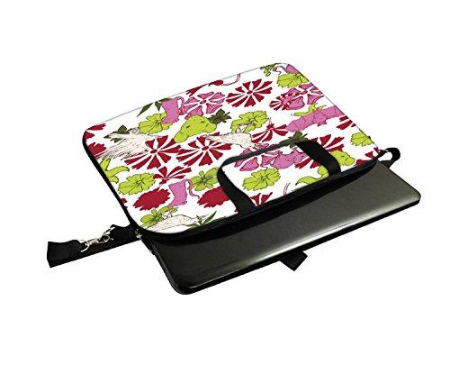 Snoogg Vögel und Ratten Laptop Netbook Computer Tablet PC Schulter Case mit Sleeve Tasche Halter für Apple iPad/HP TouchPad Mini 210/Acer Aspire One und die meisten 24,6cm 25,4cm 25,7cm 25,9cm Zol