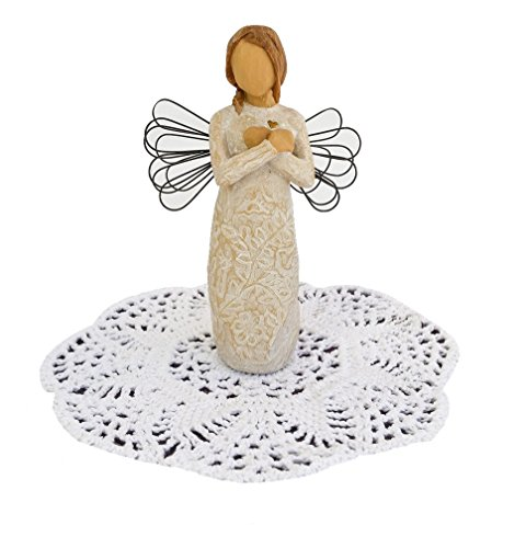 Willow Tree Angel Figurine with Westbraid Doily (Remembrance)
