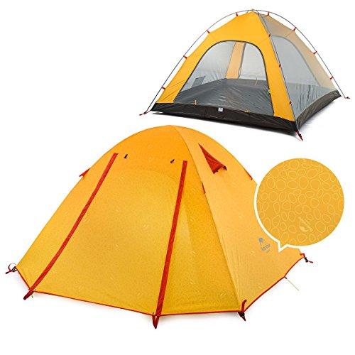 責甘くする不正iBasingo ポータブル アルミポールテント 屋外の 防風と 防水 PU2000mm キャンプテント 2-3-4 人用