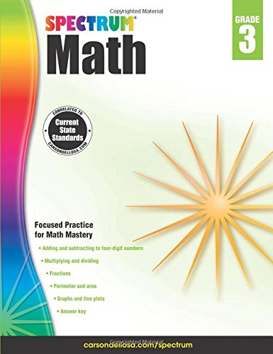 Spectrum Math Workbook, Grade 3 cover
