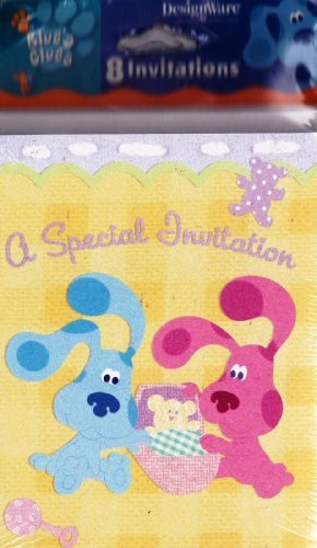 Blue's Clues 1st Birthday Invitations w/ Envelopes (8ct)