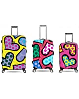 """Heys Britto Heart Carnival Spinner Luggage B712 (22' and 26"""" and 30"""")"""