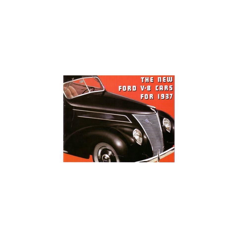 1937 FORD Sales Brochure Literature Book Piece