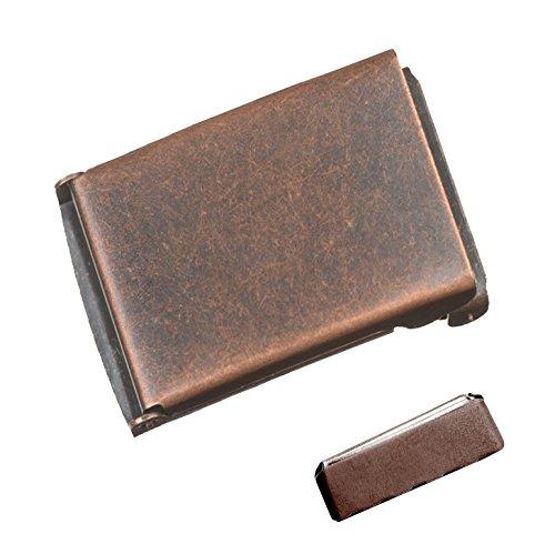 (Antique Copper Military Flip Top Buckle 1.25)