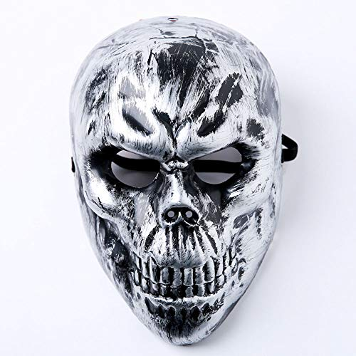 Silver Mask For Halloween (QTFHR Halloween Mask Party Cosplay Dress Up Mask Adult Horror Cosplay Masquerade Party)