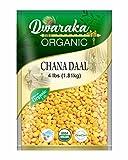 Dwaraka Organic Bengal Gram Chana Dal Lentil - USDA Organic (4 lbs / 1.81 kg)