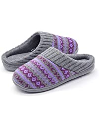 Women's Sweater Knit Memory Foam Slipper