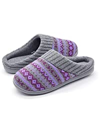 RockDove Sweater Knit Scuff Slippers for Women