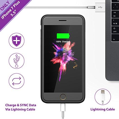 smiphee ultra slim iphone 7 plus battery case deals coupons reviews. Black Bedroom Furniture Sets. Home Design Ideas