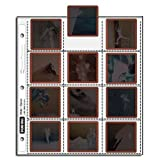 VUE-ALL ARCHIVAL 100 PAGE PACK 35mm FORMAT HEAVYWEIGHT 21/4X21/4 TOP LOAD SLIDE PAGES