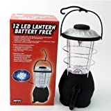 Battery-Free Emergency and Camping Crank Lantern – 12 Super-Bright LED – 3 Light Settings, Outdoor Stuffs