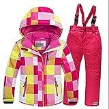 FidgetFidget Snowboard Snow Jacket&Pants Set Clothes Outdoor Kids Ski Set Suit New Girls Boys