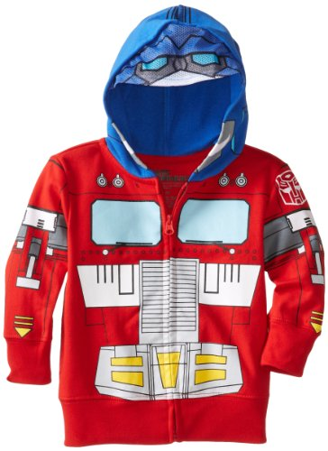 Transformers Toddler Boys' Optimus Prime Character Hoodie, Red, 3T]()