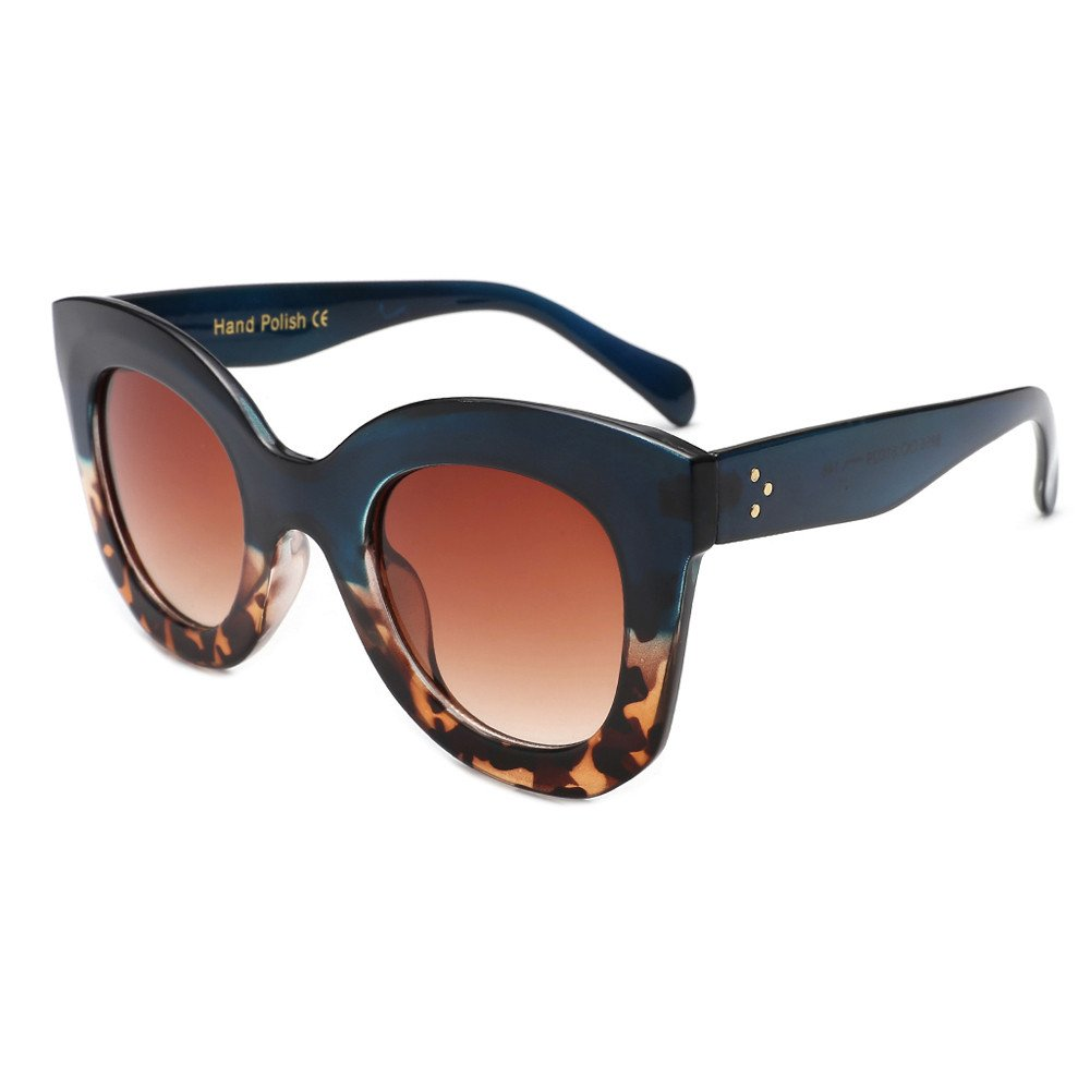 Womens Mens Sunglasses,Vintage Cat Eye Acetate Frame Glasses Polarized UV Protection Sunglasses for Outdoor Sports